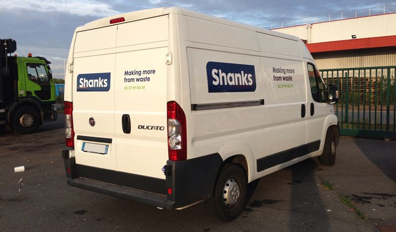 Lettrage camion Shanks