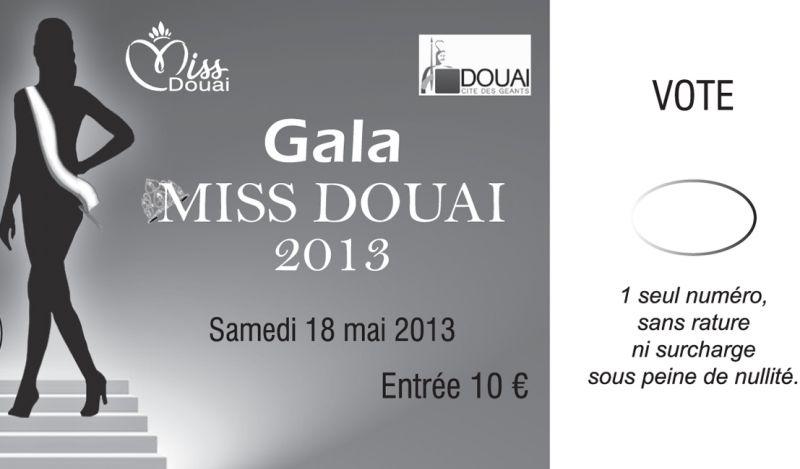 Impression Billeterie Douai - Miss Douai