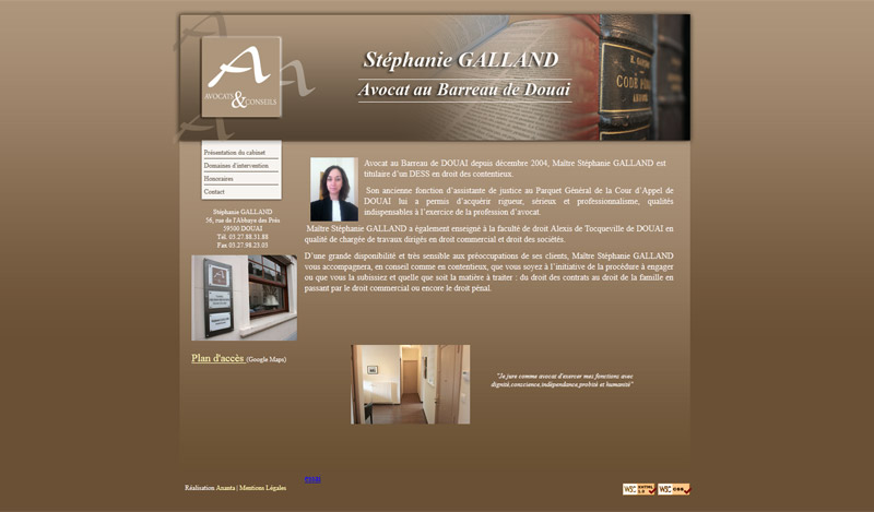 Site Internet Douai Stéphanie Galland Avocat