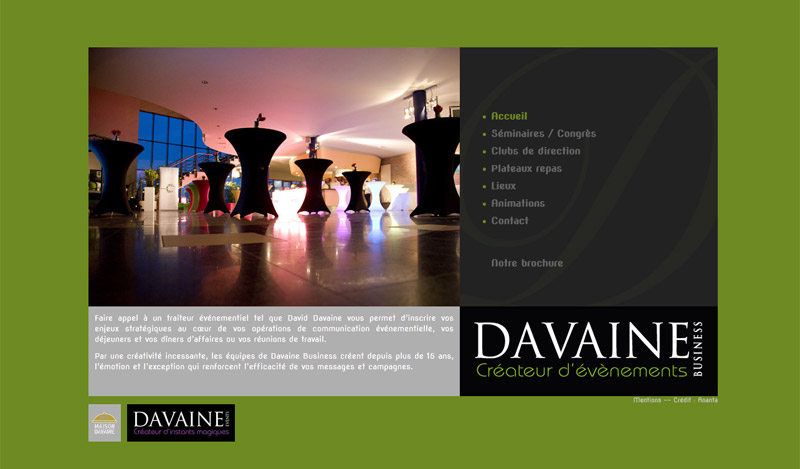 Site Internet traiteur Davaine Business
