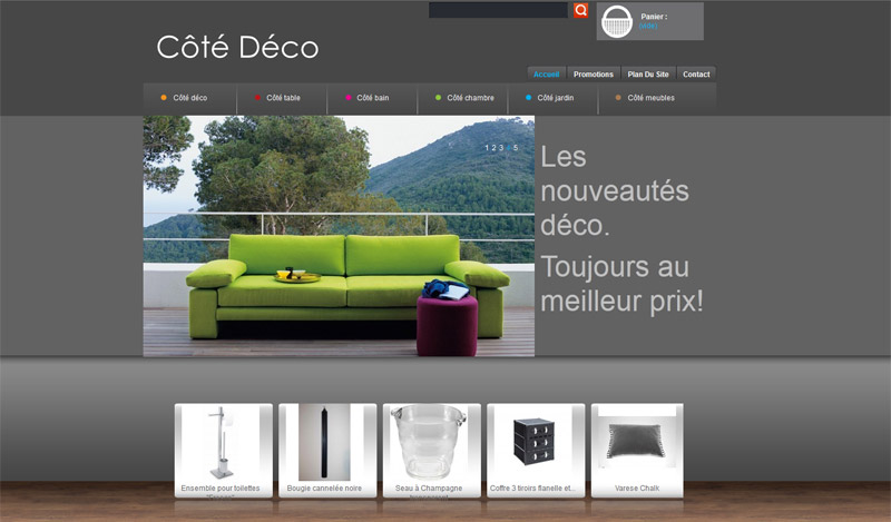 site de vente en ligne c t d co. Black Bedroom Furniture Sets. Home Design Ideas